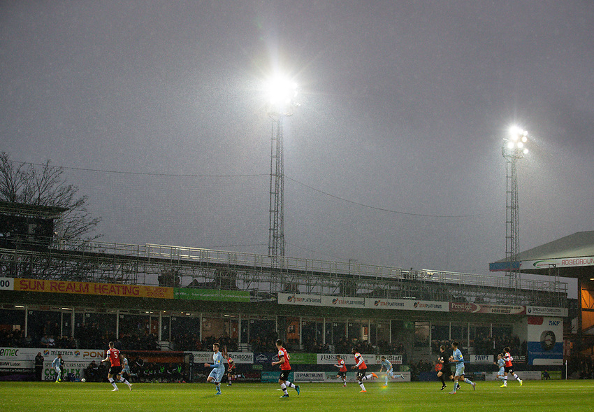 A general view of the action at Kenilworth Road, home of Luton Town<br /> <br /> Photographer Alex Dodd/CameraSport<br /> <br /> The EFL Sky Bet Championship - 191123 Luton Town v Leeds United - Saturday 23rd November 2019 - Kenilworth Road - Luton<br /> <br /> World Copyright © 2019 CameraSport. All rights reserved. 43 Linden Ave. Countesthorpe. Leicester. England. LE8 5PG - Tel: +44 (0) 116 277 4147 - admin@camerasport.com - www.camerasport.com