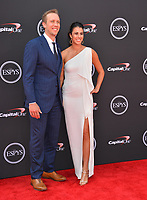 Nick Foles &amp; Tori Moore at the 2018 ESPY Awards at the Microsoft Theatre LA Live, Los Angeles, USA 18 July 2018<br /> Picture: Paul Smith/Featureflash/SilverHub 0208 004 5359 sales@silverhubmedia.com