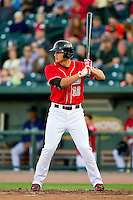 Corey Seager (12) of the Great Lakes Loons at bat against the Wisconsin Timber Rattlers at the Dow Diamond on May 4, 2013 in Midland, Michigan.  The Timber Rattlers defeated the Loons 6-4.  (Brian Westerholt/Four Seam Images)