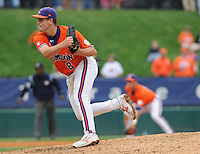May 11, 2009: RHP Clinton McKinney (8) of the Clemson Tigers pitches in a game against the Furman Paladins at Fluor Field at the West End in Greenville, S.C. Photo by: Tom Priddy/Four Seam Images