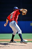 State College Spikes pitcher Zach Dodson #50 during a game against the Staten Island Yankees at Richmond County Bank Ballpark at St. George on July 14, 2011 in Staten Island, NY.  Staten Island defeated State College 6-4.  Tomasso DeRosa/Four Seam Images