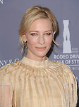 Cate Blanchett attends The Rodeo Drive Walk of Style honoring Oscar-winner Catherine Martin held at The Greystone Mansion in Beverly Hills, California on February 28,2014                                                                               © 2014 Hollywood Press Agency