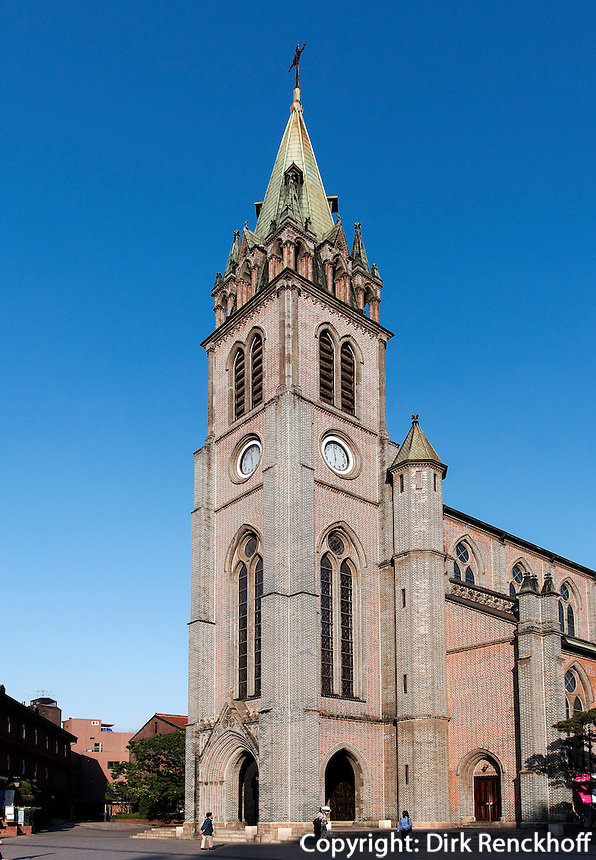 Katholische Kathedrale von1898 in Myeongdong, Seoul, S&uuml;dkorea, Asien<br /> Catholic Cathedral built 1898 in Myeongdong, Seoul, South Korea, Asia