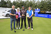 Troy Merritt (USA) team during the Pro-Am at the  Porsche European Open, Green Eagles Golf Club, Luhdorf, Winsen, Germany. 04/09/2019.<br /> Picture Fran Caffrey / Golffile.ie<br /> <br /> All photo usage must carry mandatory copyright credit (© Golffile | Fran Caffrey)