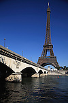 Pont d'Iéna Iena bridge with Eiffel Tower La tour eiffel in the background. City of Paris. Paris. France