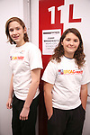 Frankie Lane and Lenny Lane from The Camp Broadway Kids Ensemble in rehearsal for a medley of songs about Santa during the pre-show of The Radio City Christmas Spectacular at Open Jar Studios on November 29, 2019 in New York City.
