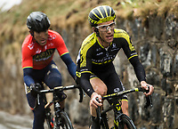 Picture by Alex Broadway/SWpix.com - 10/03/2018 - Cycling - 2018 Paris Nice - Stage Seven - Nice to Valdeblore La Colmiane - Simon Yates of Mitchelton Scott and Ion Izzagirre of Bahrain-Merida on the final climb.<br /> <br /> NOTE : FOR EDITORIAL USE ONLY. THIS IS A COPYRIGHT PICTURE OF ASO. A MANDATORY CREDIT IS REQUIRED WHEN USED WITH NO EXCEPTIONS to ASO/Alex Broadway MANDATORY CREDIT/BYLINE : ALEX BROADWAY/ASO