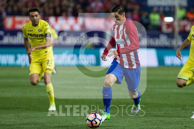 Fernando Torres of Atletico de Madrid during the match of La Liga between Atletico de Madrid and Villarreal at Vicente Calderon  Stadium  in Madrid, Spain. April 25, 2017. (ALTERPHOTOS/Rodrigo Jimenez)