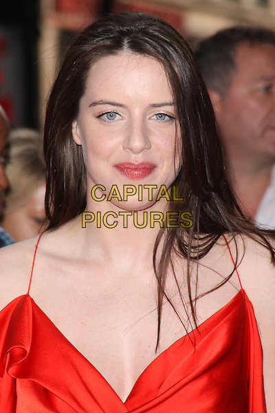 MICHELLE RYAN .World Film Premiere of '4,3,2,1' at the Empire, Leicester Square, London, England, UK, May 25th 2010 4321 4-3-2-1 arrivals portrait headshot red silk satin .CAP/AH.©Adam Houghton/Capital Pictures.
