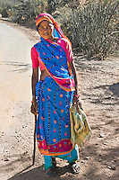 Woman in traditional sari in outback Rajasthan. (Photo by Matt Considine - Images of Asia Collection)