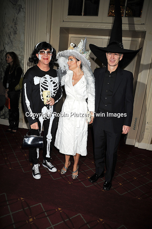 Fred Schneider, Patti Smyth and husband John McEnroe..at Bette Midler's New York Restoration Project's 13th Annual Hulaween Gala on October 31, 2008 at The Waldorf Astoria in New York City. ....Robin Platzer, Twin Images