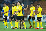 Alashkert FC v St Johnstone...02.07.15   Republican Stadium, Yerevan, Armenia....UEFA Europa League Qualifier.<br /> Alashkert FC head coach Abrahim Khashmanyan congratualtes his players at full time<br /> Picture by Graeme Hart.<br /> Copyright Perthshire Picture Agency<br /> Tel: 01738 623350  Mobile: 07990 594431