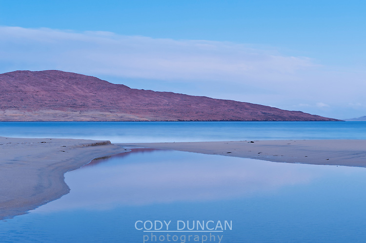 Morning light on Luskentyre beach, Isle of Harris, Western Isles, Scotland