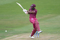 Evin Lewis (West Indies) pulls a short delivery behind square   during West Indies vs New Zealand, ICC World Cup Warm-Up Match Cricket at the Bristol County Ground on 28th May 2019