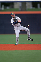 April 11, 2008:  University of Michigan Wolverines starting infielder Jason Christian (6) against the University of Illinois Fighting Illini at Illinois Field in Champaign, IL.  Photo by:  Chris Proctor/Four Seam Images