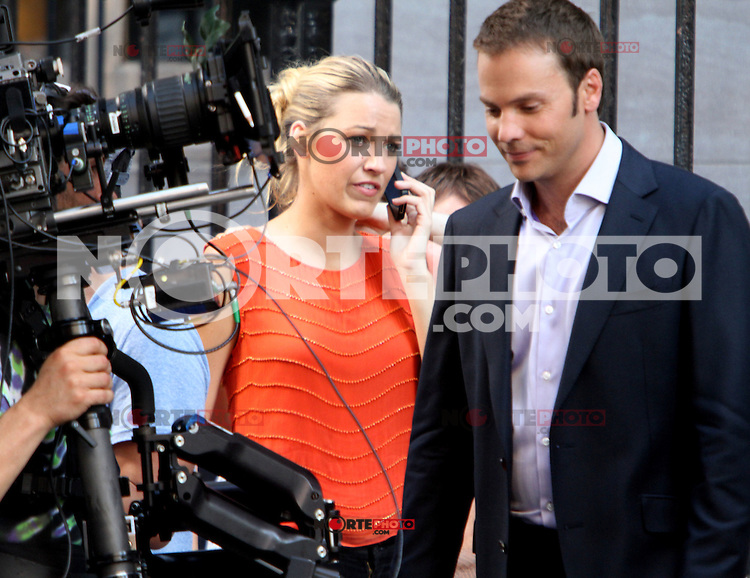 July 17, 2012 Barry Watson,Blake Lively shooting on location for Gossip Girl  in New York City.Credit:© RW/MediaPunch Inc. /NortePhoto.com<br />