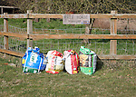 Bags of free horse manure