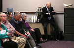 Nevada Assemblyman Jim Wheeler, R-MInden, listens to testimony in a hearing at the Legislative Building in Carson City, Nev., on Monday, Feb. 16, 2015. <br /> Photo by Cathleen Allison
