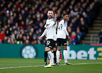 5th January 2020; Selhurst Park, London, England; English FA Cup Football, Crystal Palace versus Derby County; Wayne Rooney of Derby County gives directions- Strictly Editorial Use Only. No use with unauthorized audio, video, data, fixture lists, club/league logos or 'live' services. Online in-match use limited to 120 images, no video emulation. No use in betting, games or single club/league/player publications