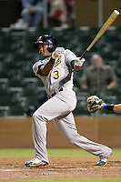 Mesa Solar Sox shortstop Addison Russell (3), of the Oakland Athletics organization, during an Arizona Fall League game against the Salt River Rafters on October 10, 2013 at Salt River Fields at Talking Stick in Scottsdale, Arizona.  Mesa defeated Salt River 8-1.  (Mike Janes/Four Seam Images)