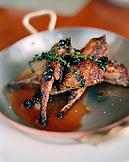 USA, California, Los Angeles, close-up of dish at Craft Restaurant.
