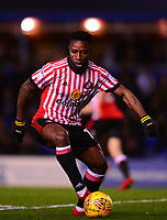 Kazenga Lualua of Sunderland in action during the Sky Bet Championship match between Birmingham City and Sunderland at St Andrews, Birmingham, England on 30 January 2018. Photo by Bradley Collyer / PRiME Media Images.