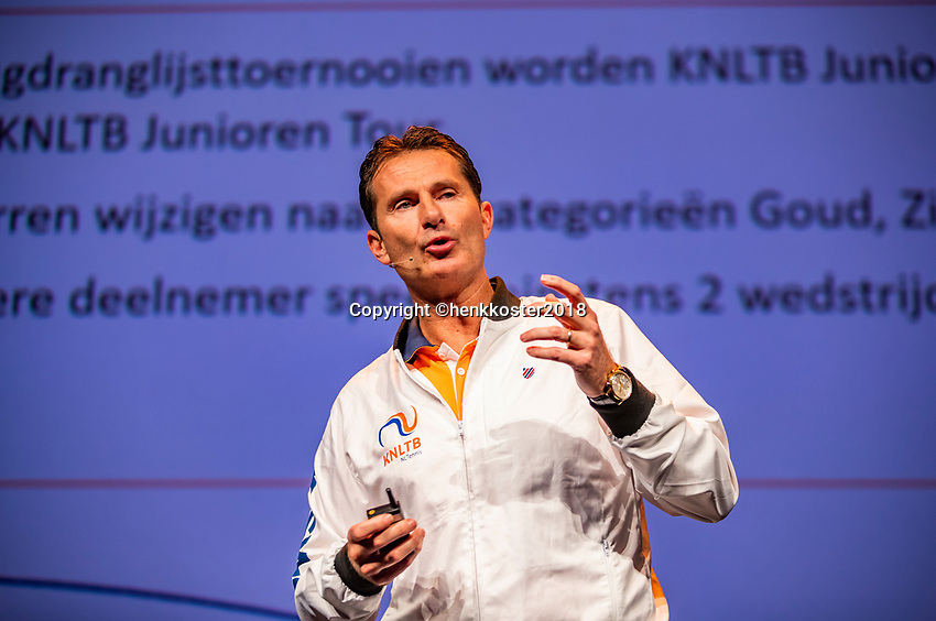 Nieuwegein,  Netherlands, 9 November 2018, Coaches congress KNLTB, Jacco Eltingh<br /> Photo: Tennisimages.com/Henk Koster