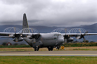 C-130 Hercules transport plane of 335 squadron, Royal Norwegian Air Force, takes off. BOLD AVENGER 2007 (BAR 07), a NATO  air exercise at Ørland Main Air Station, Norway. BAR 07 involved air forces from 13 NATO member nations: Belgium, Canada, the Czech Republic, France, Germany, Greece, Norway, Poland, Romania, Spain, Turkey, the United Kingdom and the United States of America. The exercise was designed to provide training for units in tactical air operations, involving over 100 aircraft, including combat, tanker and airborne early warning aircraft and about 1,450 personnel.
