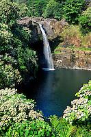 Rainbow Falls, Wailuku River<br /> Wailuku River State Park<br /> Hilo, South Hilo<br /> Island of Hawaii, Hawaii