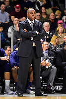 Wednesday, January 4, 2016: Georgetown Hoyas head coach John Thompson III watches the action on the court during the NCAA basketball game between the Georgetown Hoyas and the Providence Friars held at the Dunkin Donuts Center, in Providence, Rhode Island. Providence defeats Georgetown 76-70 in regulation time. Eric Canha/CSM