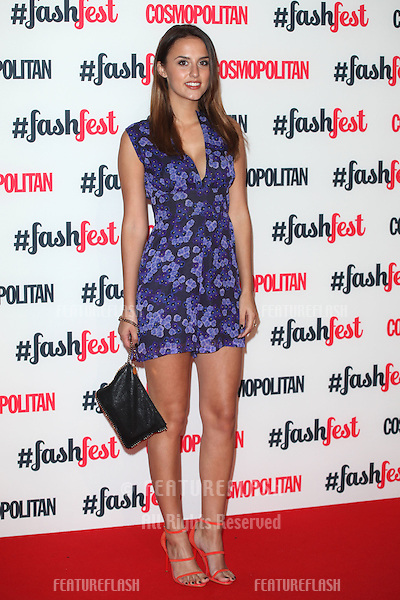 Lucy Watson arriving for the Cosmopolitan Fashfest, at Battersea Evolution, London. 18/09/2014 Picture by: Alexandra Glen / Featureflash
