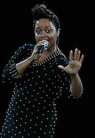 Chrisette Michele performing during half  time of the New Jersey Nets basketball game on November 9th. 2009. Photo by Errol AndersonChrisette Michele performing during half  time of the New Jersey Nets basketball game on November 4th. 2009. Photo by Errol Anderson