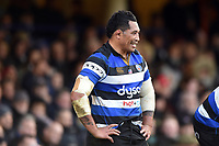 Anthony Perenise of Bath Rugby looks on. Aviva Premiership match, between Bath Rugby and Harlequins on November 25, 2017 at the Recreation Ground in Bath, England. Photo by: Patrick Khachfe / Onside Images