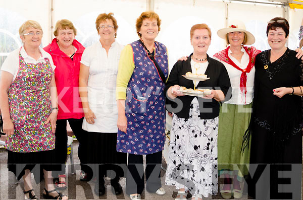 LOOKING THE PART:  Taking a step back in time to 1916, the belles of Tahilla Ladie's Club dressed for the occasion of the 1916 Tea Party event at the Sneem Summer Festival with l-r Noreen O'Shea, Mary O'Shea, Breeda O'Neill, Helen Foley, Catsy Looney, Heather Smith and Marie O'Sullivan.