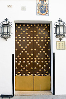 ESP, Spanien, Andalusien, Provinz Cádiz, Arcos de la Frontera: Tuer   ESP, Spain, Andalusia, Province Cádiz, Arcos de la Frontera: door