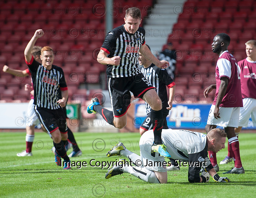 Pars' Callum Morris celebrates after he scores their first goal.