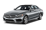 2018 Mercedes Benz C-Class C300 Sport 4 Door Sedan Angular Front stock photos of front three quarter view