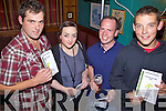Enjoying themselves at the Race Night in aid of Ballyheigue Sea Rescue held in The White Sands Hotel on Saturday night were l/r T.J. Flahive, Kate Dineen, Sean Reidy and Shane O'Halloran...................................................................................................................................................................................................................................................................................................... ............