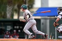 Slippery Rock Jake Nogalo (7) during a game against the University of the Sciences Devils on March 6, 2015 at Jack Russell Field in Clearwater, Florida.  Slippery Rock defeated University of the Sciences 6-3.  (Mike Janes/Four Seam Images)