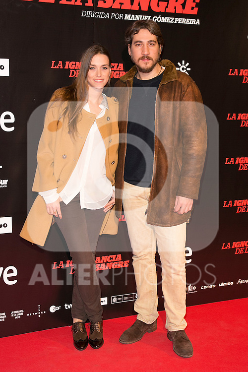 "Alberto Amann attends ""La Ignorancia de la Sangre"" Premiere at Capitol Cinema in Madrid, Spain. November 13, 2014. (ALTERPHOTOS/Carlos Dafonte)"