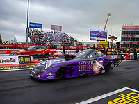 Apr 21, 2018; Baytown, TX, USA; NHRA funny car driver Jack Beckman during qualifying for the Springnationals at Royal Purple Raceway. Mandatory Credit: Mark J. Rebilas-USA TODAY Sports
