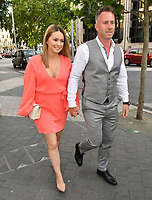 Ola Jordan and James Jordan attend Sony Music imprint Syco's summer party at Victoria and Albert Museum, London, UK, 4th July 2019.<br />  CAP/JOR<br /> ©JOR/Capital Pictures