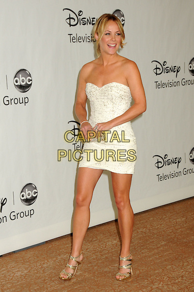 ANDREA ANDERS .Disney ABC Television Summer TCA Party 2010 held at The Beverly Hilton Hotel, Beverly Hills, California, USA..August 1st, 2010.full length dress white beads beaded strapless .CAP/ADM/BP.©Byron Purvis/AdMedia/Capital Pictures.