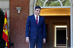 The President of the Government of Spain, Pedro Sanchez, receives in La Moncloa Palace the President of Generalitat of Catalonia Quim Torra. July 9,2018. (ALTERPHOTOS/Acero)