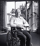 elder man in wheelchair