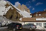 Near Passo Sella along drive to Val Gardena, Italy,