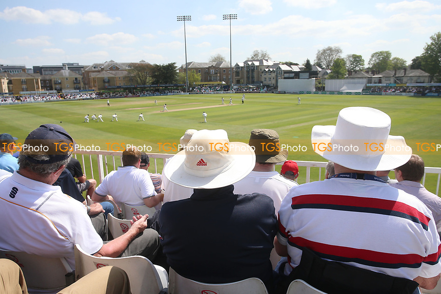 Spectators in sun hats look on during Essex CCC vs Yorkshire CCC, Specsavers County Championship Division 1 Cricket at The Cloudfm County Ground on 4th May 2018