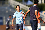 22 July 2016: Miami assistant coach Lorenzo Rubinacci (ITA) (left) talks to head coach Alessandro Nesta (ITA) (right). The Carolina RailHawks hosted Miami FC at WakeMed Stadium in Cary, North Carolina in a 2016 North American Soccer League Fall Season game. The game ended in a 3-3 tie.