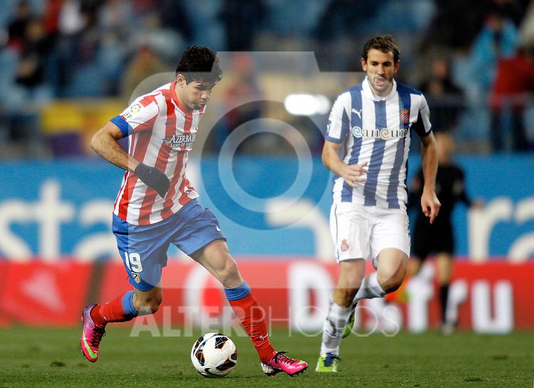 Atletico de Madrid's Diego Costa during La Liga  match. February 24,2013.(ALTERPHOTOS/Alconada)