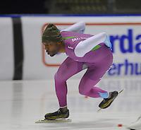 SCHAATSEN: HEERENVEEN: IJsstadion Thialf 05-02-2016, Topsporttraining en wedstrijd, Shani Davis (USA0, ©foto Martin de Jong